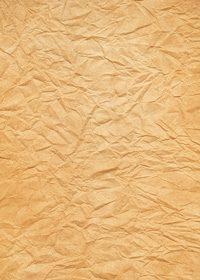 オレンジ色のしわくちゃの紙のA4サイズ背景素材