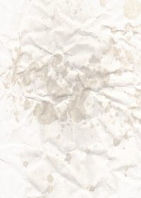 一部が濡れてシワのある紙のA4サイズ背景素材