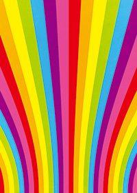 虹色の滑らかな集中線のA4サイズ背景素材