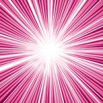 中央に集中するピンク色の効果線A4サイズ背景素材