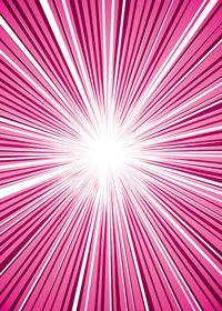 中央に集中するピンク色の効果線のA4サイズ背景素材