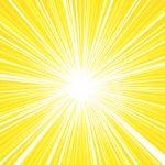 中央に集中する黄色の効果線A4サイズ背景素材