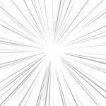 中央に集中する細いラインの効果線A4サイズ背景素材