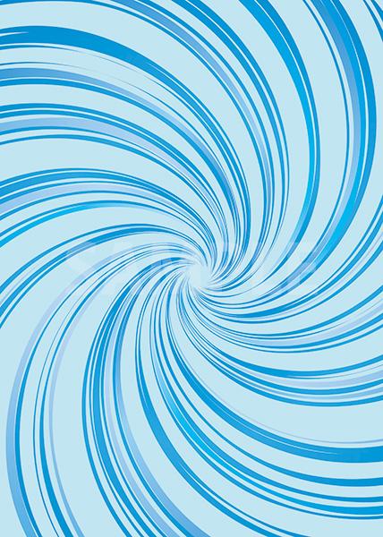 中央に渦巻状に集中する青い効果線のA4サイズ背景素材