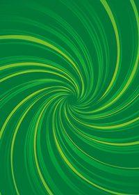 中央に渦巻状に集中する緑色の効果線A4サイズ背景素材