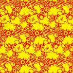 赤と黄色のポップなA4サイズ背景素材
