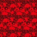 黒と赤色のポップなA4サイズ背景素材