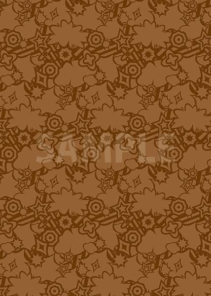 茶色のポップなA4サイズ背景素材