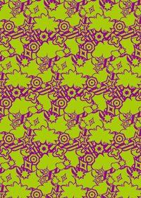 紫色と緑色のポップなA4サイズ背景素材