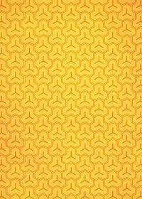 オレンジ色の毘沙門亀甲・和柄のA4サイズ背景素材