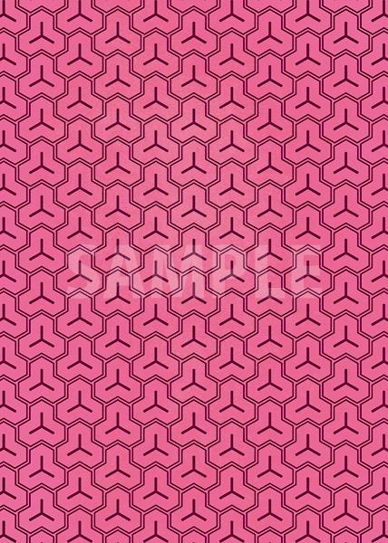 ピンク色の毘沙門亀甲・和柄のA4サイズ背景素材