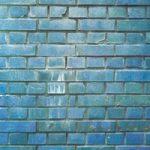 青色のレンガが並ぶA4サイズ背景素材