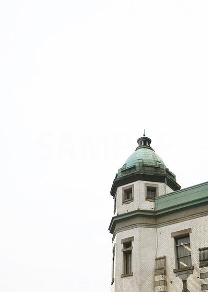 西洋建築のA4サイズ背景素材