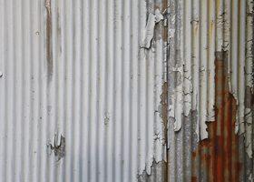 錆びたトタンのA4サイズ(横)背景素材
