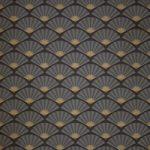 黒い扇子が並ぶ和風A4サイズ背景素材
