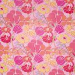 ピンク色の花のイラストのA4サイズ背景素材