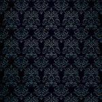 黒色のダマスク柄壁紙のA4サイズ背景素材