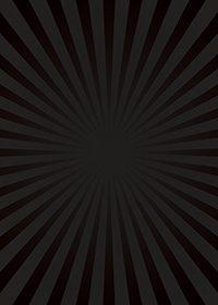 黒色の集中線のA4サイズ背景素材