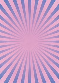 ピンクと青色の集中線のA4サイズ背景素材
