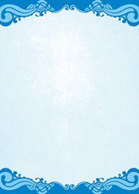 上下に青いクラシカルな模様が入ったA4サイズ背景素材
