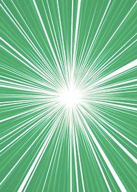 中央に集中する緑色の効果線A4サイズ背景素材
