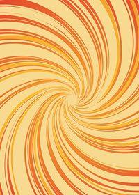 中央に渦巻状に集中するオレンジ色の効果線A4サイズ背景素材