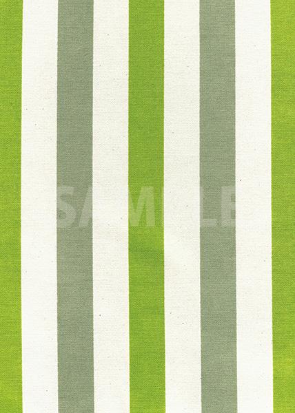 グリーン系ストライプ柄の生地のA4サイズ背景素材