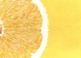 グレープフルーツの断面(一部分)のA4サイズ背景素材