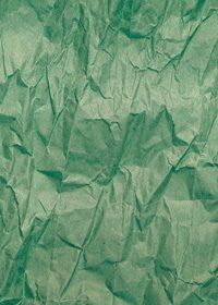 緑色のくしゃくしゃな紙のA4サイズ背景素材