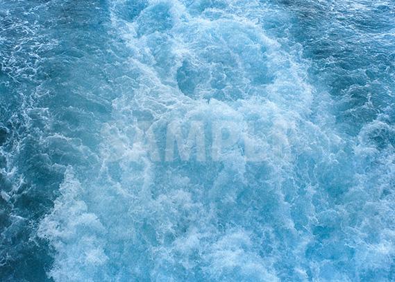 船がつくり出す波の泡のA4サイズ背景素材