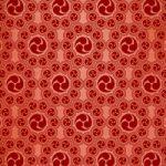 赤色の巴紋が幾何学的に並ぶA4サイズ背景素材