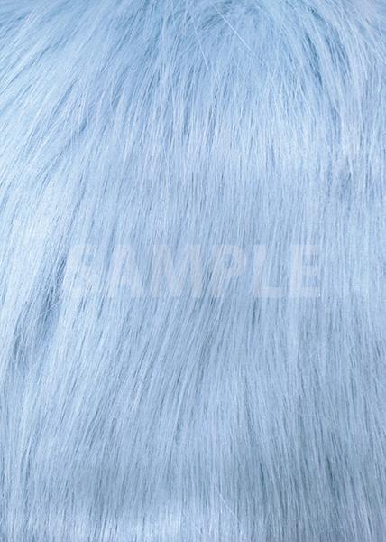 青いファーのA4サイズ背景素材