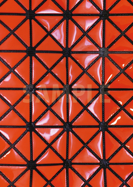 オレンジ色のビニール素材のA4サイズ背景素材