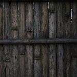 古びた竹製の壁のA4サイズ背景素材