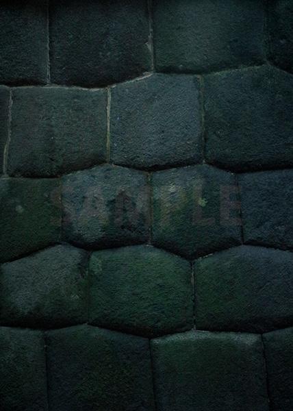 石垣のA4サイズ背景素材