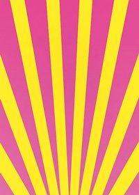 ピンク色と黄色の下中央に向かう効果線、A4サイズ背景素材