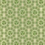 緑色の巴紋が幾何学的に並ぶA4サイズ背景素材