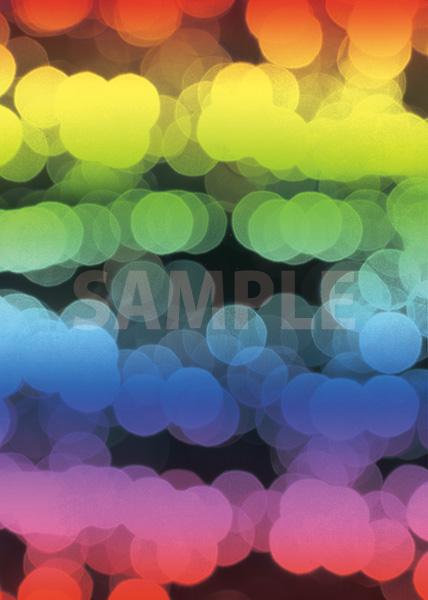 虹色のぼやけた光のA4サイズ背景素材