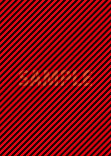 赤と黒の斜めストライプ柄のA4サイズ背景素材