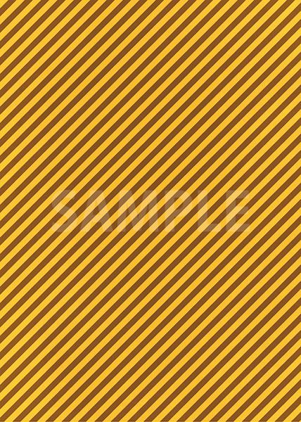 茶色と黄色の斜めストライプ柄のA4サイズ背景素材