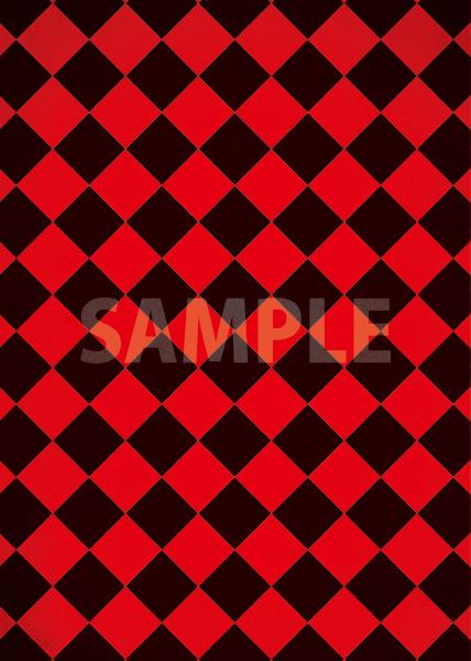 赤と黒のハーリキンチェック柄のA4サイズ背景素材