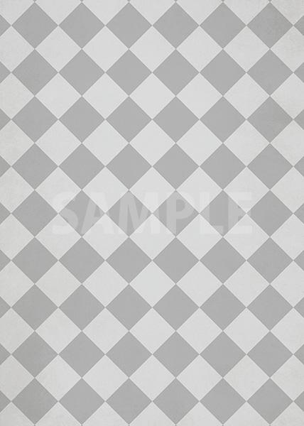 灰色のハーリキンチェック柄のA4サイズ背景素材