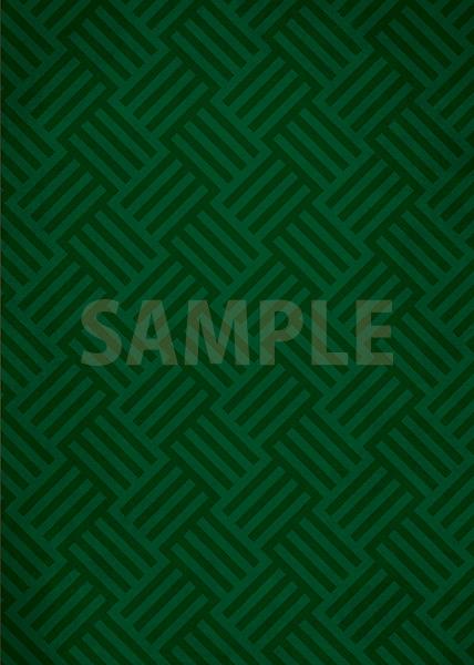 緑色のバスケットチェック柄のA4サイズ背景素材