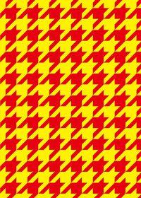 赤と黄色のハーリキンチェック柄のA4サイズ背景素材