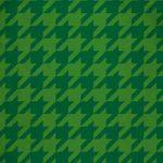 緑色のハウンドトゥース柄のA4サイズ背景素材