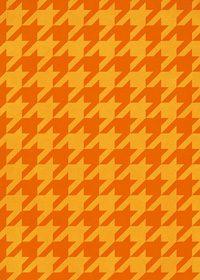 オレンジ色のハウンドトゥース柄のA4サイズ背景素材