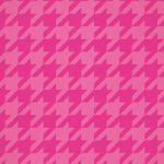ピンク色のハウンドトゥース柄のA4サイズ背景素材