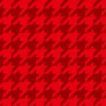 赤色のハウンドトゥース柄のA4サイズ背景素材