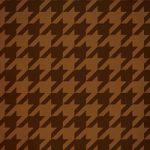 茶色のハウンドトゥース柄のA4サイズ背景素材