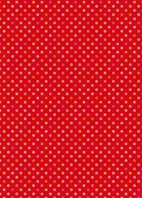 赤色のドット柄A4サイズ背景素材